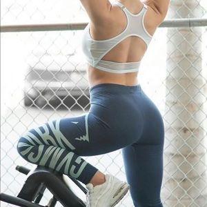 GymShark Burnout Legging Sapphire Blue/Marine Blue